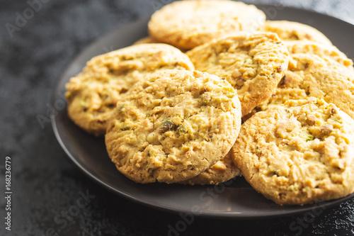 Plakat Słodkie pistacjowe ciasteczka.