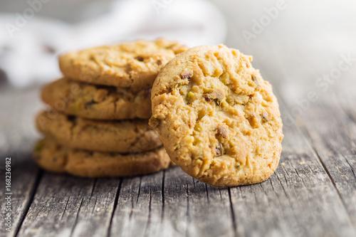 Foto op Plexiglas Koekjes Sweet pistachio cookies.