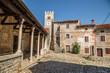 Das malerische Dorf Sveti Lovrec in Istrien, Kroatien