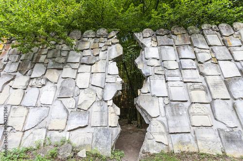 Jewish cemetery in Kazimierz Dolny, Wailing Wall, Czerniawy, Poland.