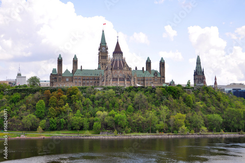 Spoed Foto op Canvas Canada Parliament Buildings and Library, Ottawa, Ontario, Canada.