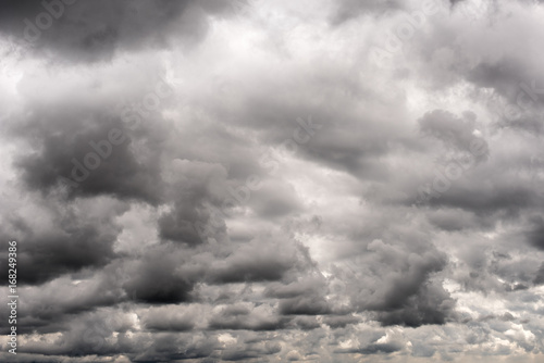 Fotografie, Obraz  Dark and stormy clouds, rainy and bad weather