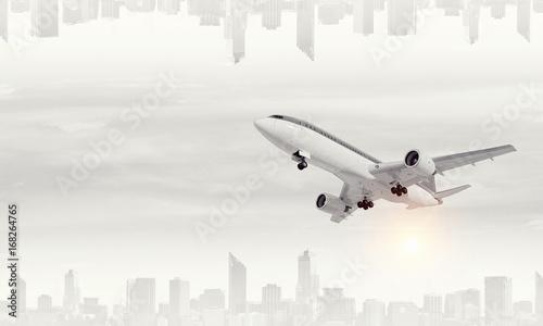 Plakaty samolot pasażerski
