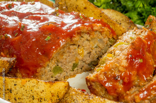 meat loaf and potatoes Canvas Print