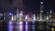 Hong Kong landmark at night