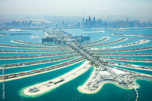 Recess Fitting Dubai Aerial View Of Palm Island In Dubai