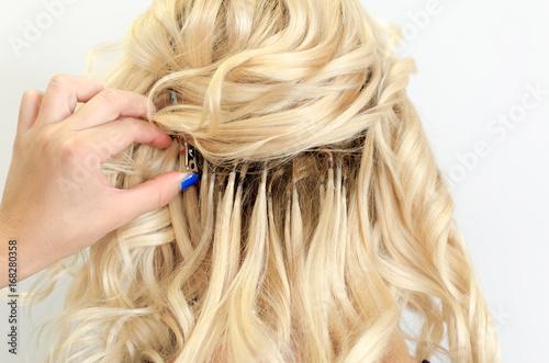Obraz na plátně Beautiful hair extension