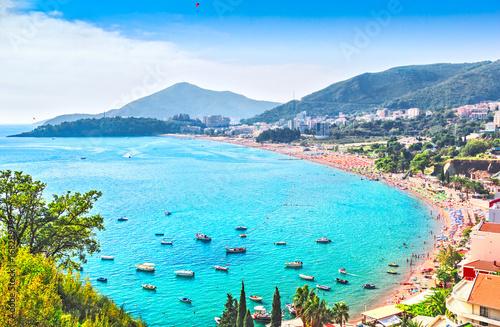 beaches of Becici and Rafailovici