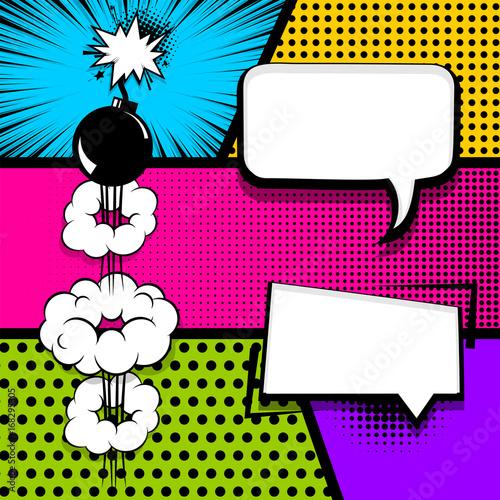 vector halftone illustration blank humor graphic pop art comics