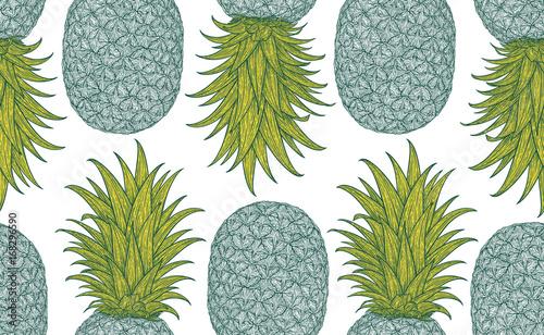 Materiał do szycia Ręcznie rysowane wzór z dekoracyjnymi. Stylizowane kolorowe owoce. Tło wiosna lato, charakter kolekcji. Ilustracja wektorowa