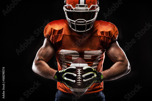 Photo American football sportsman player