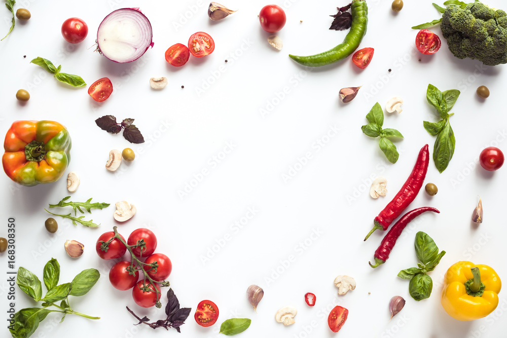 Fototapety, obrazy: fresh vegetables and herbs