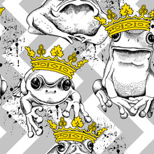 Seamless Pattern With Frog And...