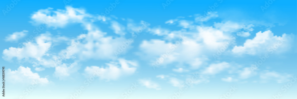 Fototapety, obrazy: Background with clouds on blue sky. Blue Sky vector