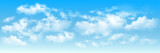 Fototapeta Na sufit - Background with clouds on blue sky. Blue Sky vector