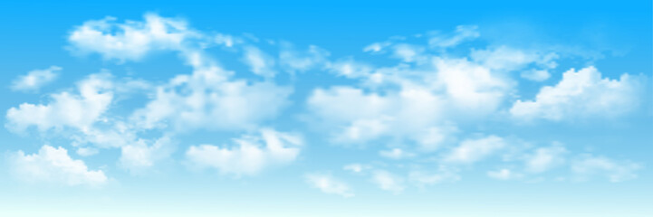 Fototapeta Niebo Background with clouds on blue sky. Blue Sky vector