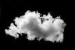 Leinwandbild Motiv White cloud isolated black background