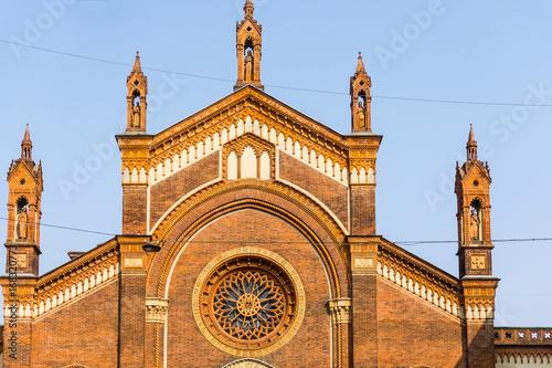 Photo  Street view of church landmarks of Dublin Ireland