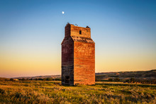 Old Grain Elevator In The Ghost Town Of Dorothy, Canada