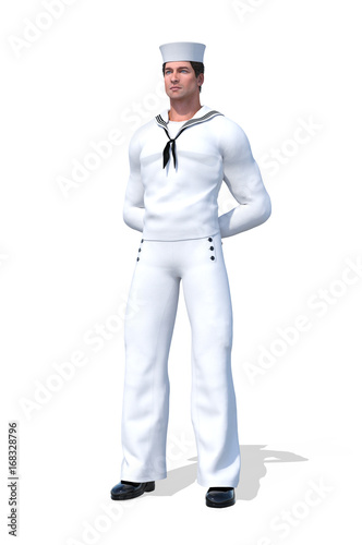 Photo  Naval Officer at Parade Rest