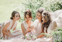 Beautiful Bride And Bridesmaid...