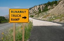 Runaway Truck Ramp Sign:  Truc...
