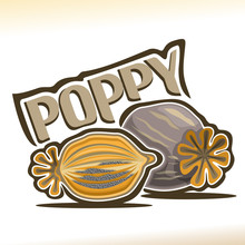 Vector Logo For Poppy Pod: Cut...