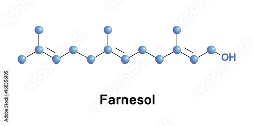Farnesol acyclic sesquiterpene alcohol Canvas Print