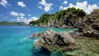 rocky island whistling cay, st john, united states virgin islands