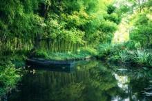 Claude Monet In Autumn Garden,...