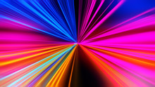 Speed Motion On The Neon Glowi...
