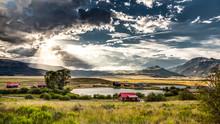 Upper Rio Grande River Valley Sunset
