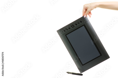 Graphic tablet female hands