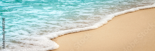 Canvas Prints Beach Sand and Water