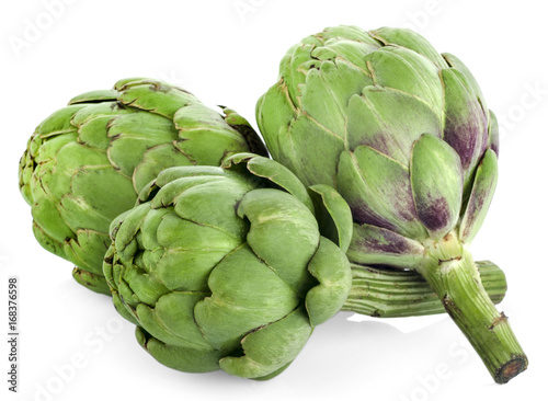 artichoke isolated on white background Canvas Print