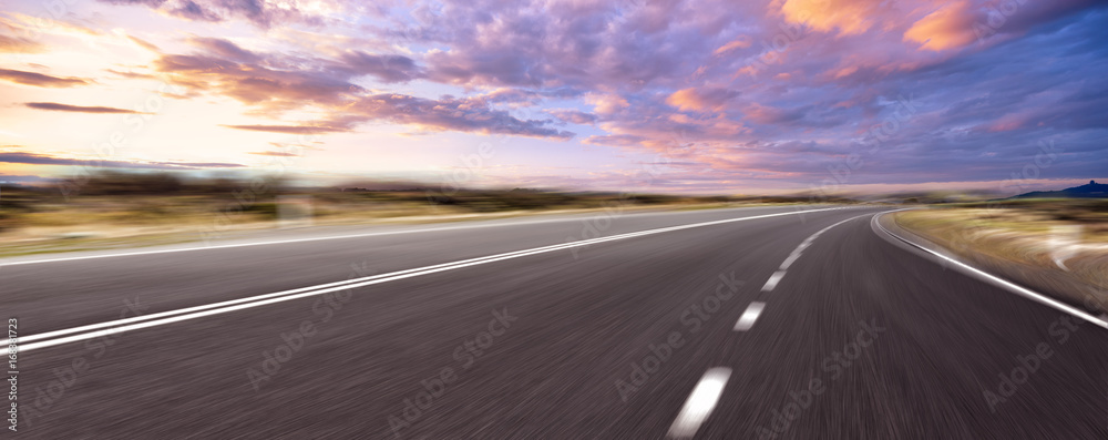 Fototapety, obrazy: empty road and cityscape of modern city against cloud sky