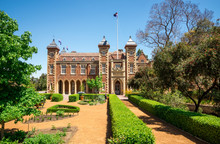 Government House And Landscaped Garden In Perth City Center