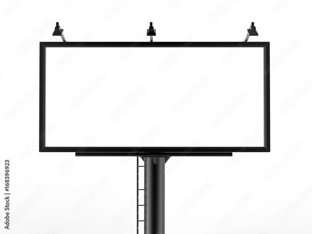 Fototapety, obrazy: Billboard blank white for outdoor advertising poster or blank billboard advertisement mock up template can be used for display your products or promotion.size 10'-5