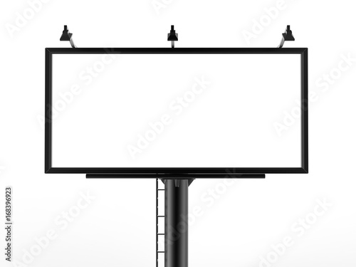 Obraz Billboard blank white for outdoor advertising poster or blank billboard advertisement mock up template can be used for display your products or promotion.size 10'-5