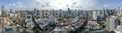 Tela Bangkok City 360° panorama, Nana and Sukhumvit Road