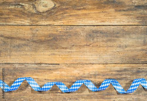 Fotografie, Obraz  Bayerisch Hintergrund Tafel Schild mit Raute Muster Blau-Weiß Bayern