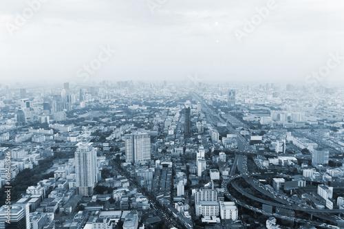 Bangkok cityscape high panorama Poster