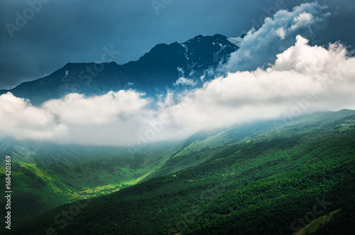 Staande foto Afrika Mountain peaks of the Great Caucasus