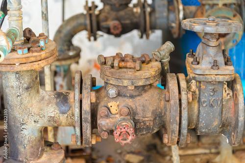 Foto op Plexiglas Artistiek mon. Old Check valve