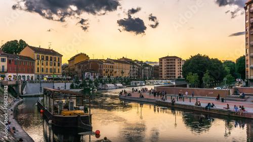 Milano navigli Canvas Print