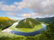 bend of the river flowing into Lake Skadar, Montenegro