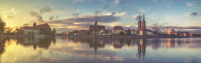 Wrocław, Poland, Panorama of the city
