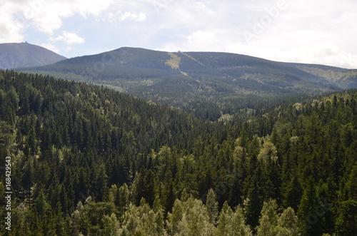 Plakat Widok Karkonoszy latem/View of The Karkonosze Mountains in summer, Lower Silesia, Poland