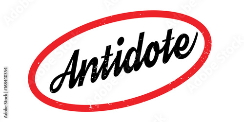 Antidote rubber stamp Canvas Print