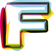 Abstract Colorful Letter F